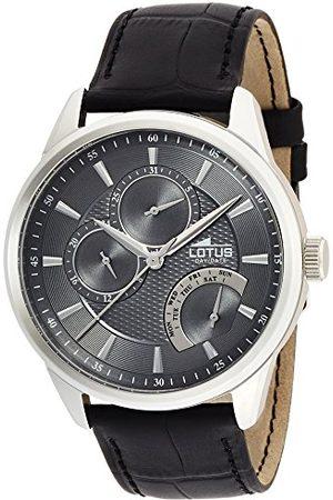 Lotus Męski analogowy kwarcowy zegarek z prawdziwej skóry pasek 15974/4