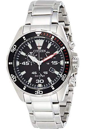 Citizen Męski analogowy zegarek kwarcowy z bransoletką ze stali szlachetnej AT2430-80E
