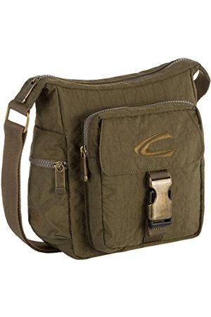 Camel Active Journey, torba na ramię unisex S, torba na ramię, torebka podręczna, wiele przegródek, kieszeń na zamek błyskawiczny, khaki, 20 x 8,5 x 23 cm