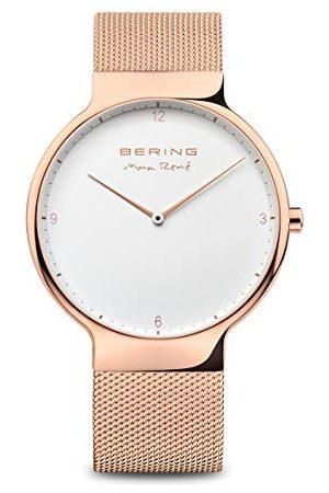 Bering Męski zegarek na rękę analogowy kwarcowy stal szlachetna 15540-364