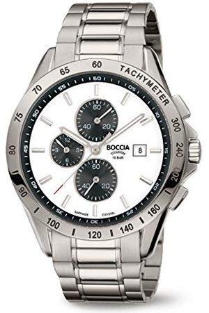 Boccia Męski chronograf kwarcowy zegarek z tytanowym paskiem 3751-04