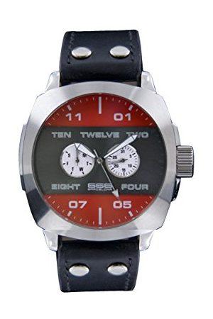666Barcelona Męski analogowy zegarek kwarcowy ze skórzanym paskiem 66-252