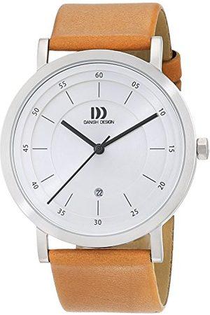 Danish Design Męski analogowy zegarek kwarcowy ze skórzanym paskiem 3314529