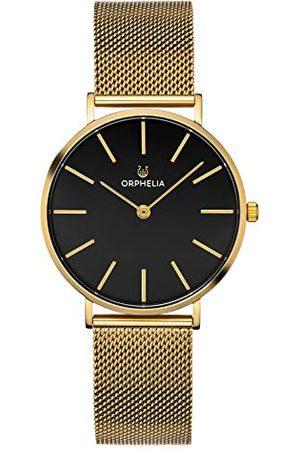 ORPHELIA Męski zegarek analogowy wypoczynek z opaską siatkową ze stali nierdzewnej Bransoletka