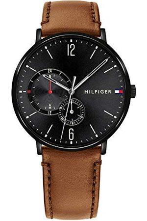 Tommy Hilfiger Męski multicyferblat kwarcowy zegarek ze skórzanym paskiem 1791510