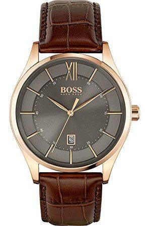 HUGO BOSS Męski analogowy zegarek kwarcowy ze skórzanym paskiem 1513796