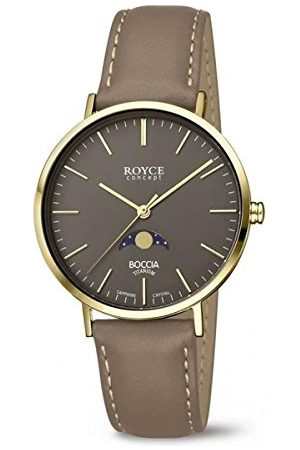 Boccia Męski analogowy zegarek kwarcowy ze skórzanym paskiem 3611-02