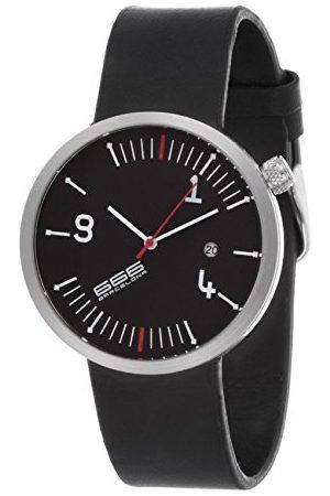 666Barcelona Męski analogowy zegarek kwarcowy ze skórzanym paskiem 66-220