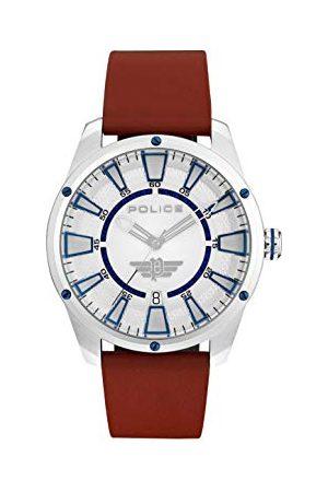 Police Policja męski analogowy klasyczny zegarek kwarcowy ze skórzanym paskiem 15413JS/04