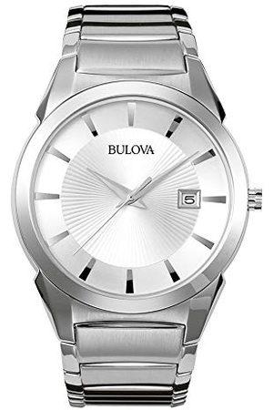 BULOVA Męski analogowy klasyczny zegarek kwarcowy z paskiem ze stali nierdzewnej 96B015