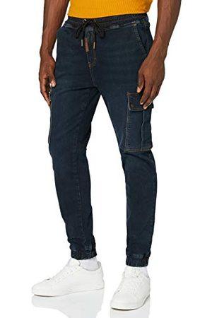 Gianni Kavanagh Męskie Dark Blue Core Loose Cargo Pants Jeans