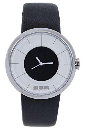 666Barcelona Męski analogowy zegarek kwarcowy ze skórzanym paskiem 66-290