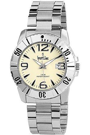Sportline Męski analogowy zegarek kwarcowy z różnymi materiałami bransoletka 28152210006