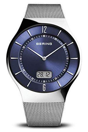 Bering Męski analogowy cyfrowy zegarek kwarcowy z bransoletką ze stali szlachetnej 51640-007
