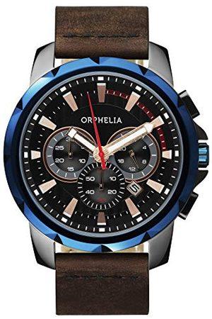 ORPHELIA Męski zegarek na rękę Five senses chronograf kwarcowy skóra Pasek