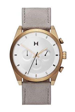 MVMT Męski analogowy zegarek kwarcowy ze skórzanym paskiem 2800043-D