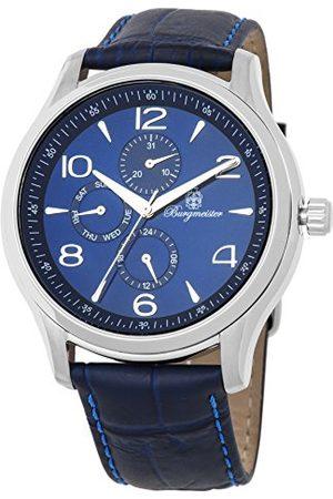 Burgmeister Męski analogowy japoński zegarek kwarcowy ze skórzanym paskiem ze skóry cielęcej BMT04-133