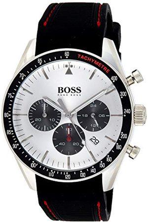 HUGO BOSS Męski chronograf kwarcowy zegarek na rękę z silikonową bransoletką