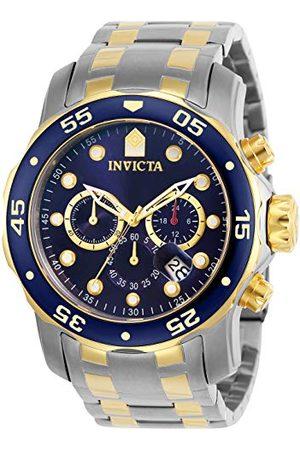 Invicta Męski chronograf kwarcowy zegarek z paskiem ze stali nierdzewnej 0077