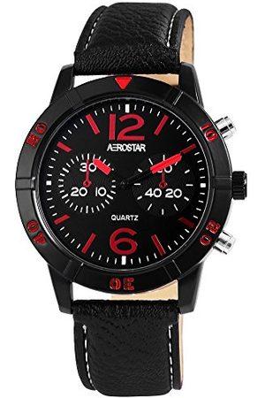 Aerostar Męski analogowy zegarek kwarcowy z imitacji skóry 21107130002