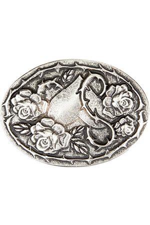 MGM Unisex Rosenliebe Gürtel, srebrny (stare srebro 01), dany|#694