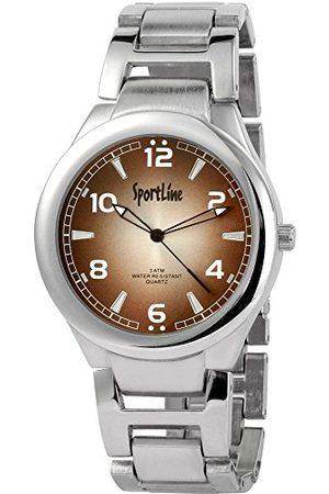 Sportline Męski analogowy zegarek kwarcowy z różnymi materiałami bransoletka 28432700006