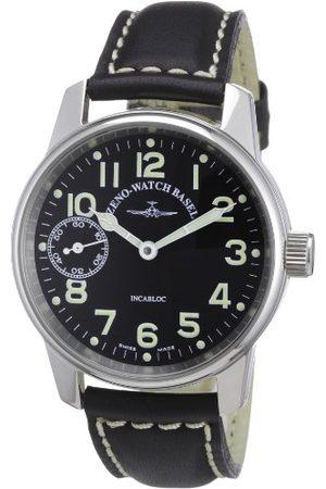 Zeno Męski automatyczny zegarek klasyczny pilot 6558-9-a1 ze skórzanym paskiem