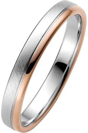 Trauringe Liebe hoch zwei Obrączki ślubne miłość wysokie dwa pierścionki męskie 030506107258 e 14 ct (585), dwukolorowe, 58 (18,5), cod. 03050610725858