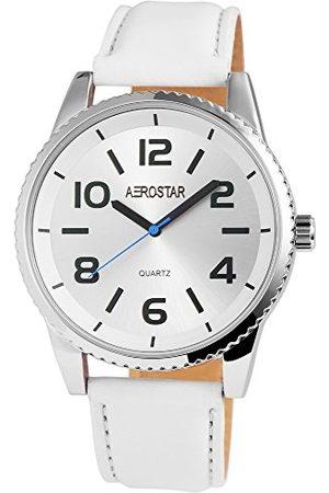 Aerostar Męski analogowy zegarek kwarcowy z imitacji skóry 21102260007