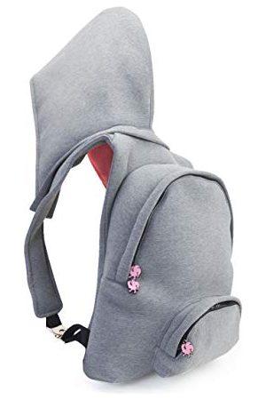 Morikukko Uniseks - plecak z kapturem dla dorosłych neonowy plecak ( neonowy róż)