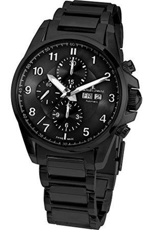 Jacques Lemans Męski chronograf automatyczny Smart Watch zegarek na rękę z bransoletką ze stali szlachetnej 1-1750G