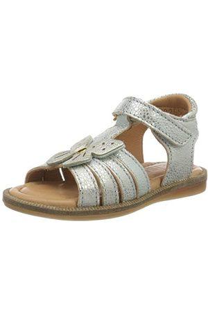 Bisgaard Bea sandały damskie z paskiem w kształcie litery T, - Silber Ocean 1705-36 EU