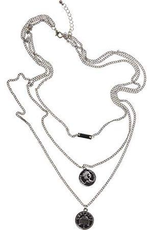 Urban classics Unisex Amanda Layering Necklace spinki do mankietów, srebrne, jeden rozmiar