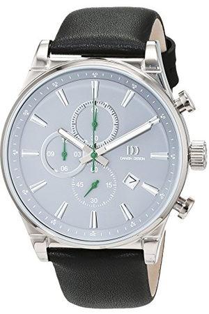 Danish Design Męski analogowy zegarek kwarcowy ze skórzanym paskiem 3316347
