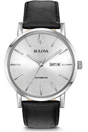 BULOVA Męski analogowy klasyczny zegarek kwarcowy ze skórzanym paskiem 96C130