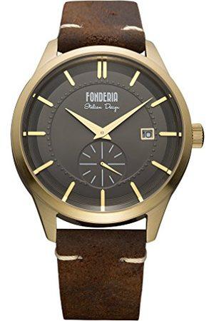 Fonderia Męski analogowy zegarek kwarcowy Smart Watch ze skórzanym paskiem P-6G009UG1