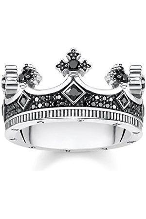 Thomas Sabo Pierścionek korona, rozmiar 50, srebro szterlingowe i cyrkonia, TR2208-643-11
