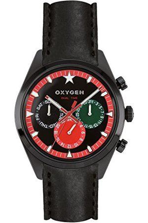 Oxygen Zegarek na rękę unisex Roma 40 analogowy kwarcowy skóra EX-SDT-ROM-40-CL-BL