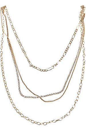 Urban classics Unisex Valeria Layering Necklace spinki do mankietów, złoto, jeden rozmiar