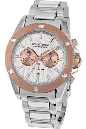 Jacques Lemans Męski analogowy zegarek kwarcowy z bransoletką ze stali szlachetnej 1-1812E