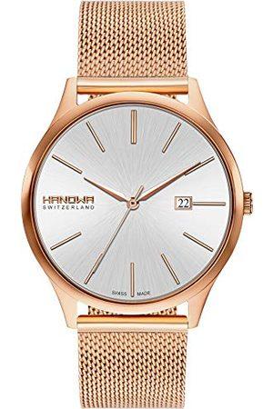 Swiss Military Hanowa Unisex dla dorosłych analogowy zegarek kwarcowy z bransoletką ze stali szlachetnej 16-3075.09.001