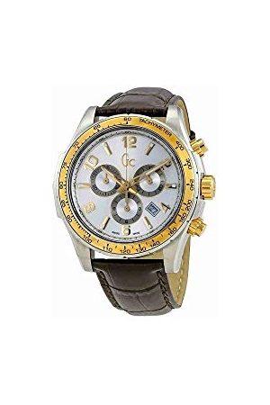 Guess Męski chronograf kwarcowy zegarek ze skórzanym paskiem X51005G1S