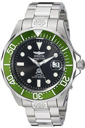Invicta 3047 Pro Diver męski zegarek na rękę ze stali nierdzewnej, automatyczny, czarna tarcza