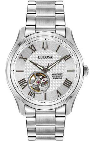 BULOVA Męski szkielet automatyczny zegarek z paskiem ze stali nierdzewnej 96A207