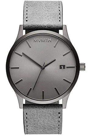 MVMT Męski analogowy zegarek kwarcowy ze skórzanym paskiem ze skóry cielęcej D-MM01-GRGR