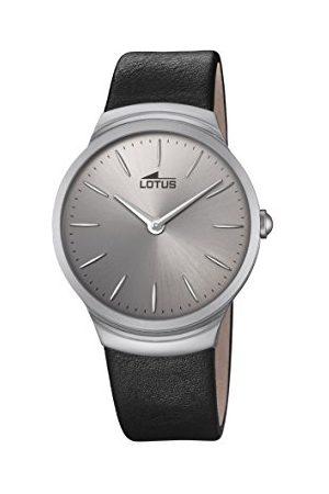 Lotus Męski analogowy klasyczny zegarek kwarcowy ze skórzanym paskiem 18499/1