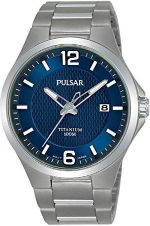 Pulsar PS9611X1 męski zegarek tytanowy z metalowym paskiem
