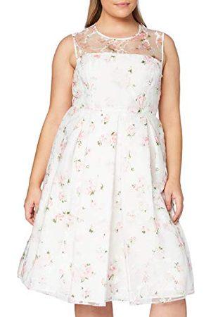 Gina Bacconi Damska sukienka koktajlowa Hestia Organza z nadrukiem róży