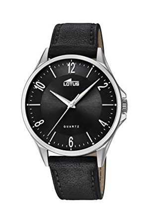 Lotus Męski analogowy klasyczny zegarek kwarcowy ze skórzanym paskiem 18518/4