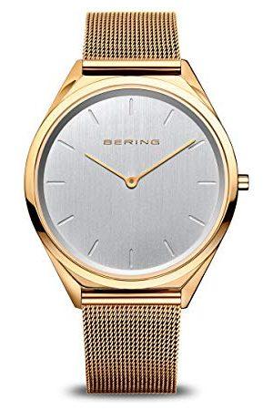 Bering Unisex analogowy zegarek kwarcowy z bransoletką ze stali szlachetnej 17039-334